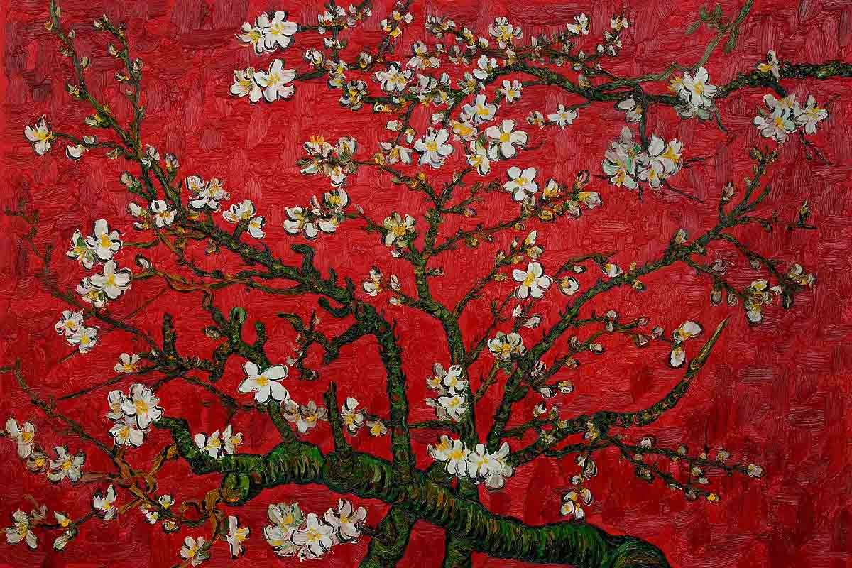 Branches-of-an-Almond-Tree-in-Blossom-by-Van-Gogh-Famous-handmade-canvas-oil-painting-reproduction